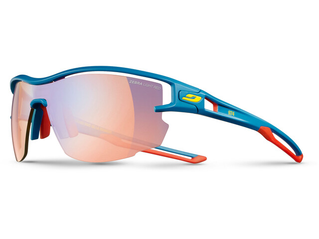 Julbo Aero Zebra Light Fire Sunglasses Blue/Red/Yellow-Multilayer Red